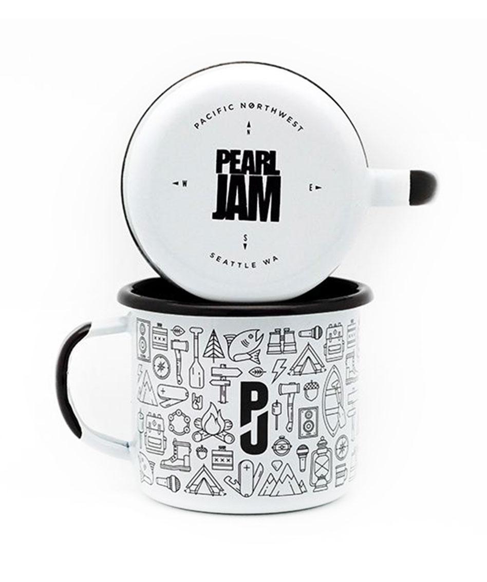 enamel custom mugs pearl jam